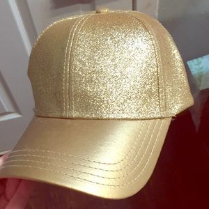 Gold glitter hat